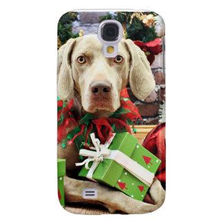 Christmas - Weimaraner - Lucy Galaxy S4 Case