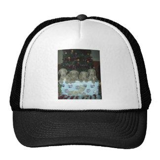 Christmas Weimaraner Puppies Mesh Hats