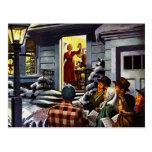 Christmas - Welcome Carolers Postcard