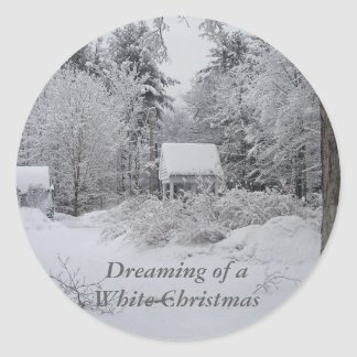 Christmas-Well House Round Sticker