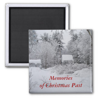Christmas-Well House-Square Magnet