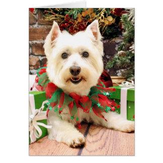 Christmas - West Highland Terrier - Abby Greeting Card