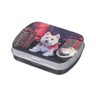 Christmas - West Highland Terrier - Madison Jelly Belly Tins