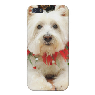 Christmas - West Highland Terrier - Polo Covers For iPhone 5