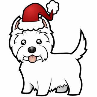 Christmas West Highland White Terrier Ornament Photo Sculpture Decoration