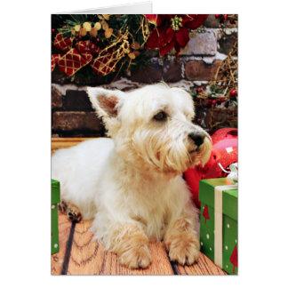 Christmas - Westie - Callie Greeting Card