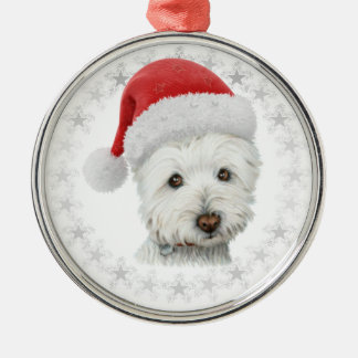 Christmas Westie Dog Art Christmas Ornament