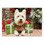 Christmas - Westie - Lucky Greeting Card