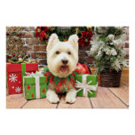 Christmas - Westie - Lucky Print