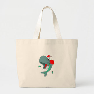 Christmas Whale Canvas Bags