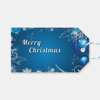 Christmas Whimsical Snowflake Swirls Gift Tags