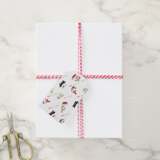 Christmas Whimsical Snowman Pattern Gift Tags