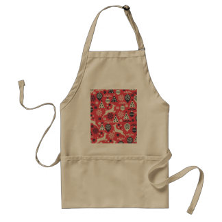 Christmas White Deers and Trees on Pink Pattern Standard Apron