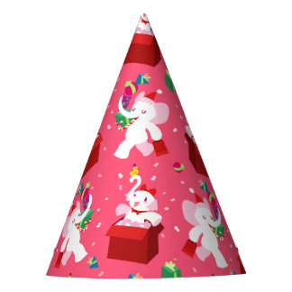 Christmas White Elephant Party Kawaii Cartoon Party Hat