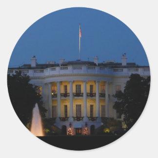 Christmas White House at Night in Washington DC Round Sticker