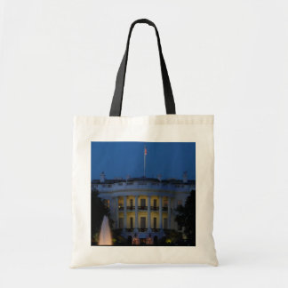 Christmas White House at Night in Washington DC Tote Bag