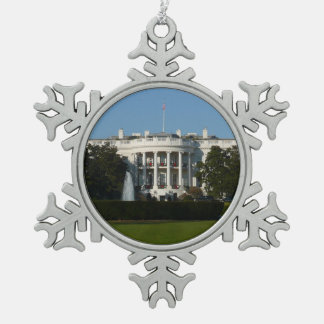 Christmas White House for Holidays Washington DC Pewter Snowflake Decoration