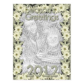 Christmas White Poinsettias 2012 Postcard
