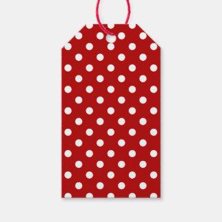 Christmas White Polka Dot Gift tag