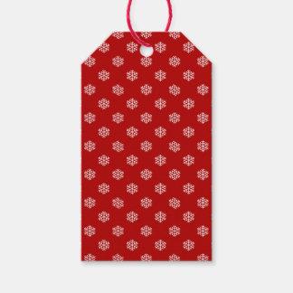 Christmas White Snow Flake Gift Tag