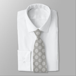 Christmas White Snowflake Festive Xmas Patterned Tie
