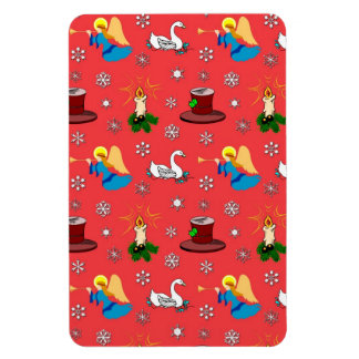 Christmas – White Swans & Brown Top Hats Vinyl Magnets
