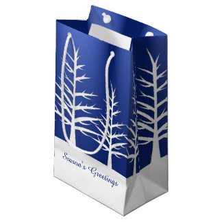 Christmas White Trees Snow Small Gift Bag