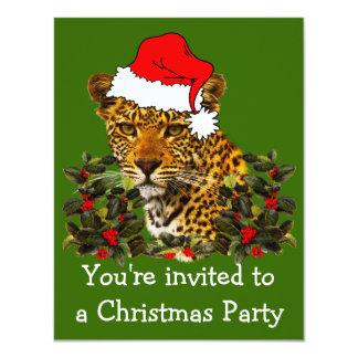 Christmas Wildcat 11 Cm X 14 Cm Invitation Card