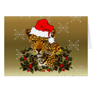 Christmas Wildcat Note Card