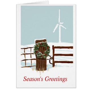 Christmas Wind Farm Greeting Card