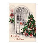 Christmas Window Large Canvas Print