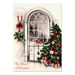 Christmas Window Party Invitation 13 Cm X 18 Cm Invitation Card