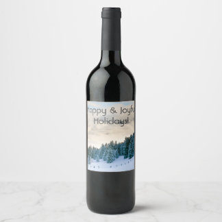 Christmas wine bottle label