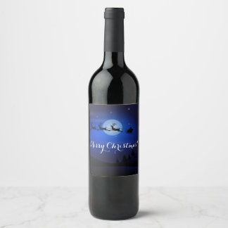 Christmas wine label Merry Christmas!
