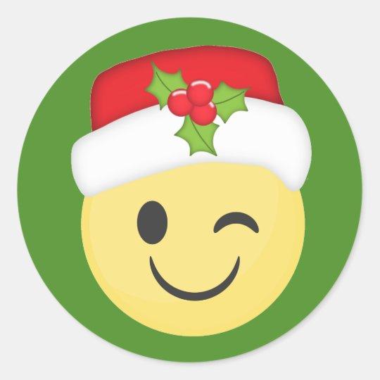 Christmas Wink Emoji Stickers