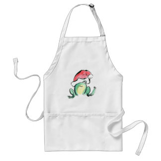 Christmas Winking Froggy Apron