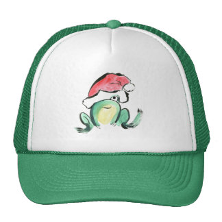 Christmas Winking Froggy Cap