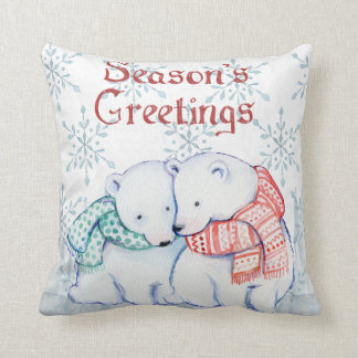 Christmas winter accent throw pillow