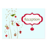 Christmas Winter Birds Wedding Reception Cards Large Business Cards (Pack Of 100)