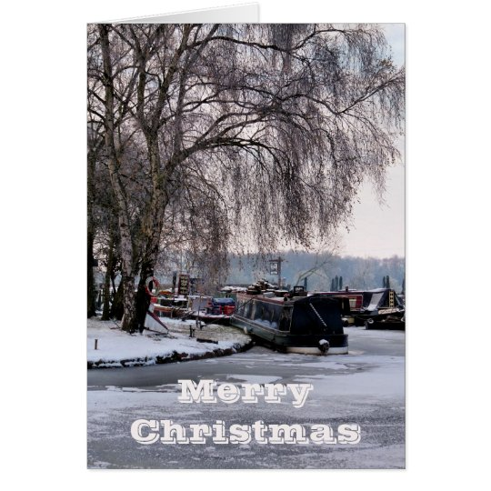 CHRISTMAS WINTER CANAL CARD