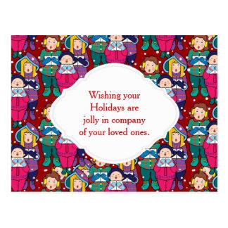 Christmas Winter Carols Post Cards
