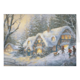 Christmas Winter Cottage Card