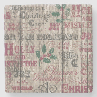 Christmas winter holiday decor coaster