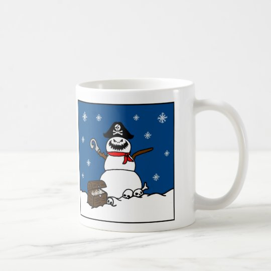 Christmas Winter Pirate Snowman Coffee Mug