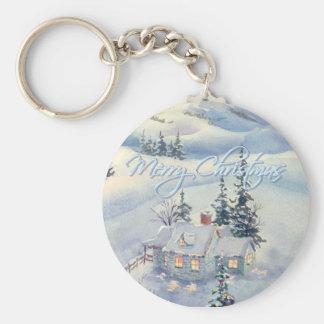 CHRISTMAS WINTER SCENE by SHARON SHARPE Key Ring
