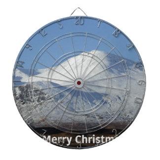 christmas winter scene dartboard
