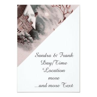 christmas winter scene 5x7 paper invitation card