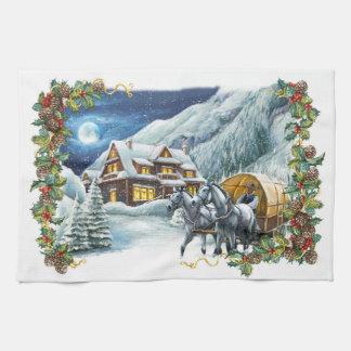 Christmas Winter Scene Kitchen Towel