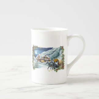 Christmas Winter Scene Tea Cup