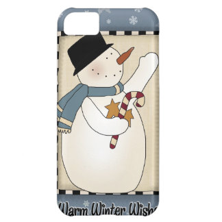 Christmas Winter Snowman Wishes iPhone 5C Case
